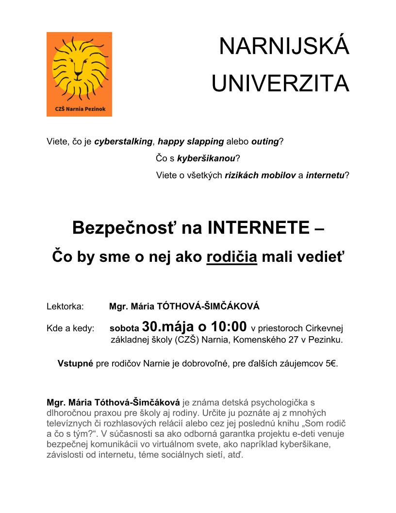narnijska univerzita 30052015