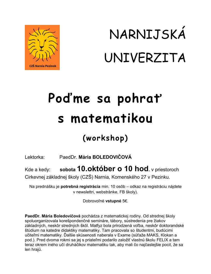 10102015 narnijska univerzita